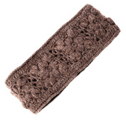 Nirvanna Designs Flower Crochet Headband - Cocoa