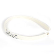 Marc by Marc Jacobs Marc Script Headband, Cream