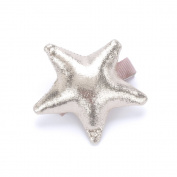 Girls Mettalic Shine Star Hair Bun Clip - Pale Gold