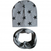 Datework Baby Star Cotton Scarf Hat Set