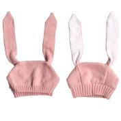 Datework Baby Knitted Crochet Rabbit Ear Beanie Winter Warm Hat