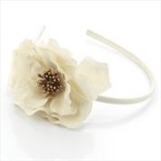 Twilo Design Very Pretty Flower Fabric Covealice Band Great For Wedding One Size Cream