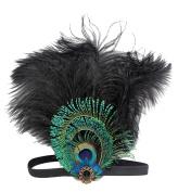 Aniwon Flapper Headband Feather Headband with Rhinestone Decoration