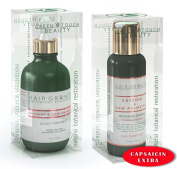 Anti-Hair Loss Value 2PC Gift Set Cayenne & Saw Palmetto / Scalp Stimulating Botanical Formula Natural DHT Blocker and Alopecia Prevention / Shampoo 100ml & Scalp Hair Oil 120ml