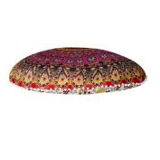 "Ikevan® Large Mandala Floor Pillows Round Bohemian Meditation Cushion Cover Ottoman Pouffe(80*80cm"")"