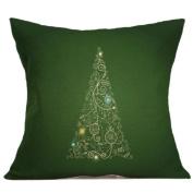 Pillow Cases,Dirance(TM) Home Decor Christmas Linen Square Throw Flax Pillow Case Decorative Cushion Cover