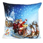 Ikevan® Christmas Santa Claus Pillow Case Sofa Waist Throw Cushion Cover Home Decor(46cm x 46cm )