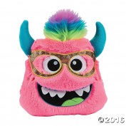 30cm Plush Monster Pillow (Pink) - Cute Girl Boy Kids Bedroom Livingroom car