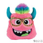30cm Plush Monster Pillow (Pink) - Cute Girl Boy Kids Bedroom Livingroom car