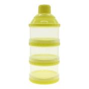 WEKA Infant Baby Dispenser Milk Powder Container Boxes Bottle 3 Layer Yellow