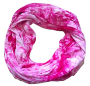 Infinity Nursing Scarf - Privacy Cover Up for Breastfeeding Baby - Pink Tie Dye Pattern
