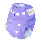 LBB(TM) Newborn Baby Cloth Nappies Reusable Washable Pocket Nappies With Adjustable Snaps With Adjustable Snap,Purple