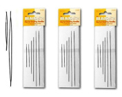 Beadsmith Big Eye Needles in 4 Sizes - 3 Packs of 6 Large Eye Needles each