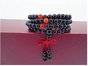 Fashion cat Natural Crystal black agate Hand Jewellery Buddha bring Good luck bracelet