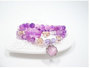 Fashion cat Natural Crystal agate Persian jade female Hand Jewellery purple sun flower beads bracelet