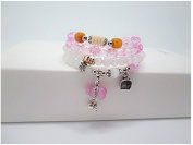 Fashion cat Natural Crystal similar Burst female Hand Jewellery Opal Powder crystal bottle gourd beads bracelet