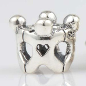 Friendship Charm 925 Sterling Silver Hand in Hand Beads Children Charm for Pandora Charms Bracelet