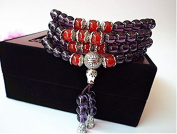 Fashion cat Natural Amethyst tea crystal female Hand Jewellery Multilayer string beads bracelet