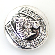 Lovmoment Horse Shape with Rhinestone DIY Snap Button Chunk Jewellery Charms