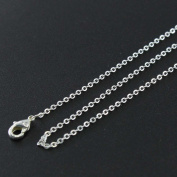 Wholesale 12 PCS Sliver Plated over Solid Brass Chain Bulk Finished Chains For Jewellery Making 18-20 Inches (18""