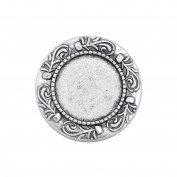20mm Round Brooch Blank Base Cameo Cabochon Base fit 20mm Round Cabochon Pack of 10