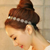 Sannysis 1PC Magic Sweet Lady Hollow Rose Flower Elastic Hair Band Headband For Girls