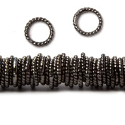 8mm Black Gold Plated Copper Twisted Jump ring 8 inch 140 pieces