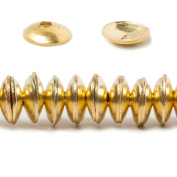 6mm Gold plated Copper plain Bead Cap 8 inch 148 pieces