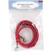 Adjustable Shoulder Bag Strap-Red W/Brass Hardware