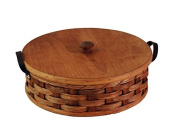 Amish Handmade Round Single Pie Basket in NATURAL