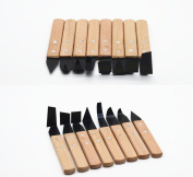 Lautechco 8pcs/set Wooden Handle Pottery Wheel Tool Ceramic Tools Pottery Tools Craft Trimming Tools
