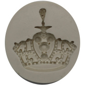 Funshowcase Royal Crown Fondant Candy Silicone Mould for Sugarcraft, Cake Decoration, Cupcake Topper, Chocolate, Pastry, Cookie Decor, Jewellery, Polymer Clay, Epoxy Resin, Crafting Projects #1286