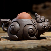 JKCOM Zisha Tea Pet Chinese Tea Tray Pet Accessories Handmade Purple Clay Tea Pet for Kungfu Tea Tray A Perfect Gigt for Tea Lovers