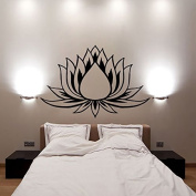 Lotus Flower Wall Decals Vinyl Decal Yoga Sticker Meditation Art Decor Removable Stylish Mural Unique Design for Room L622