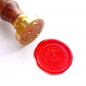 Vooseyhome Happy Christmas Wax Seal Stamp with Rosewood Handle