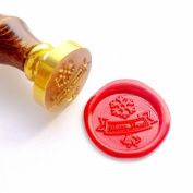 Vooseyhome Merry Xmas with Snowflake & Bells Wax Seal Stamp