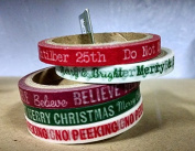 Christmas Washi Tape Assortment - Red/Greens - 5 spools x 5yards