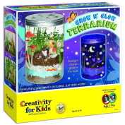 New Creativity For Kids Grow 'n Glow Terrarium Kit Plastic Jar Wheat Seeds Craft Toy