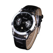 Lucoo Fashion comfortable Mens Fashion Leisure Clock Watch Quartz Leather Analogue Wrist Watch