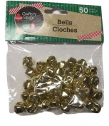50 Count 12mm Gold Crafter's Square Craft Jingle Bells