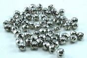 0.25 Inch 6mm Tiny Silver Jingle Bells Bulk 100 Pieces