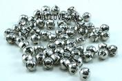 0.25 Inch 6mm Tiny Silver Jingle Bells Bulk 100 Pieces