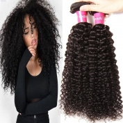 KLAIYI Hair Brazilian Cheap Curly Hair 3 Bundles Good Quality Grade 6A Raw Virgin Hair Weave Real Human Hair Extensions Natural Hair Colour 95-100g/pc