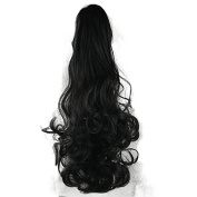 Netgo 60cm Curly Clip In Claw Ponytail Hair Extensions Synthetic Hairpiece with a jaw/claw clip