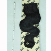 GEX 20cm - 80cm 8A 100g/Bundle Unprocessed Brazilian Virgin Remy Hair Weft Hair Extension Body Wave Natural Black 36cm