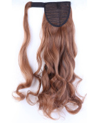 43cm - 70cm Ponytail Straight Curly Wrap Around Ponytails Hair Extension for Woman Synthetic Hair 120g-130g