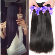 SATAI Brazilian Straight Hair 4 Bundles Real Human Hair , 400g Per Lot, Natural Colour Virgin Brazilian Hair