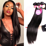 Isee Hair 6a Malaysian Straight Hair 4 Bundles Virgin Unprocessed Human Hair Wefts 400 Grammes Hair Extensions Deal With Mixed Lengths 20 20 22 60cm