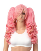 OneDor Lolita Multi-Colour Long Curly Claw Clip on Ponytail Cosplay Heat Friendly Party Costume Wig