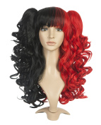 ZUUC Lolita Clip on Two Ponytails Wavy Party Costume Cosplay Wig